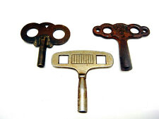 Lot Of 3 large Vintage Clock Winding Cabinet Keys