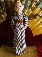Antique Japanese Oriental Ichimatsu Ningyo Chonmage Boy Doll