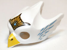 LEGO - Minifig, Headgear Mask Bird (Eagle) w/ Yellow Beak & Gold Tiara - White