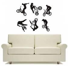 Bike Bmx Set of 6 Wall Art Sticker Free Postage