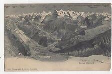 Berner Oberland 1906 Postcard Switzerland 0992