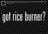 Rice Rocket ライスロケット Vinyl Decal Sticker Car Japanese JDM Burner Funny Windshield