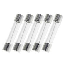 Glass Fuse 6x30mm 0.25A 250mA Amp AGC 6mm x 30mm Tube 250V Fast Quick Blow 5pcs