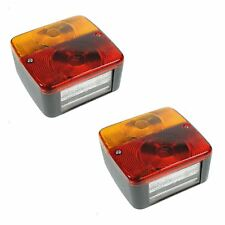 2 x Trailer Tail Rear Lights 4 Function Light Cluster Towing Brake Indicator