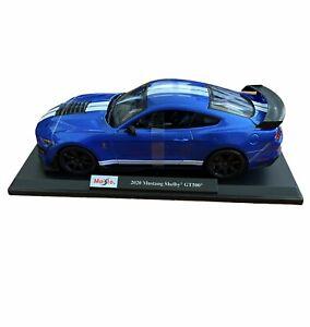 Maisto 2020 Mustang Shelby GT500 Die Cast Car Model 1:18 Scale Kids GT 500 Blue