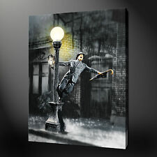 SINGING IN THE RAIN CANVAS WALL ART PICTURES PRINTS 20 x 16 Inch FREE UK P&P
