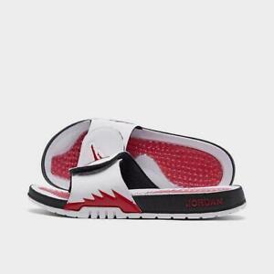 Jordan Hydro V Retro  White Red Men's Slides Slide flip flops 11 12 13