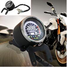 Universal 12V Motorcycle LCD Digital Odometer Speedometer Tachometer Gauge Solid