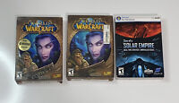 Lot Of 2 World of Warcraft - PC Game, Blizzard (2004) DVD-ROM Plus Extra Game