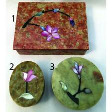 Handcrafted Stone Inlay Boxes