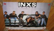 "Original Vintage 1988 Inxs Tour Poster For Kick Album Nos 21"" H x 27"" W"