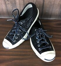 Womens 6.5 Black Sequin Jack Purcell Converse Tennis Shoes