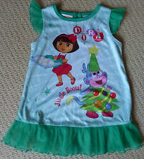 NWOT Dora the Explorer Licensed Girls Christmas Nightie Pyjamas Size 2
