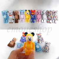 BTS BT21 X BEARBRIK Collectible Figure Set Limited Edition + Tracking Number