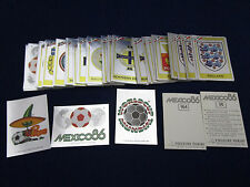 Panini WM WK WC 1986 WorldCup Mexico 86, pick 1 badge sticker/1 Wappen auswählen