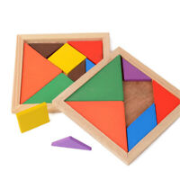 KQ_ Wooden Tangram Puzzle Jigsaw Montessori Educational  For Toddlers Kids B