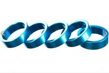"BLUE 1-1/8"" 10mm HEADSET SPACERS Fixie DJ Bike MTB Bicycle Brand-X BMX 5 Pieces"