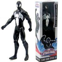 With Box Hasbro Marvel Legend TITAN HERO Black Suit SPIDER-MAN 12in Figure Toys