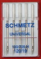Schmetz Universal 120/19 sewing machine needles pkt of 5