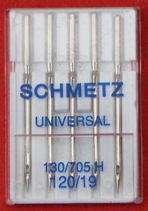 Schmetz Universal 120/19 sewing machine needles pkt of 5