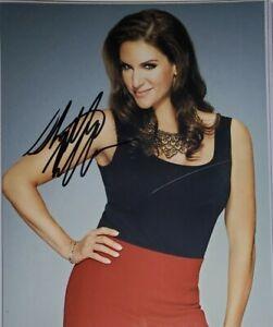 Stephanie McMahon Hand Signed 8x10 Photo W/ Holo COA WWF WWE