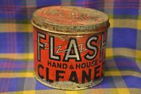 Vintage Metal Bright Red FLASH Hand&House Cleaner 2# Tin-Cambridge, MASS