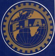 ADESIVO - STICKER ORIGINALE F.I.A. FEDERAZIONE INTERNAZIONELE - Cm. 10,5