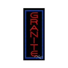 New Granite 27x11 Vertical Border Solid Amp Animated Led Sign Withoptions 21564