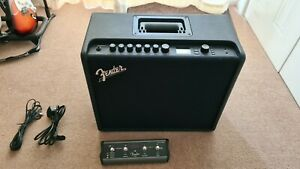 Fender Mustang GT100 Amp with four button footswitch