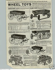 1921 PAPER AD Toy Play Coaster Wagon Sherwood Spring Victory Peerless Fleet Foot