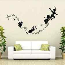 Tinkerbell Star Peter Pan PVC Wall Stickers Decal Kids Room Mural Decor