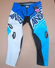 New NWT Answer A14 2014 ION Mens MX Motocross Racing Pants Blue White Size 36