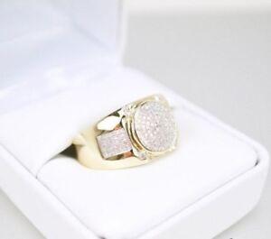 VVS1 Diamond Yellow Gold Finish 2 CT Men's Pinky Engagement Wedding Band Ring