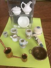 15 pieces Doll House kitchen miniatures - 1:12 scale