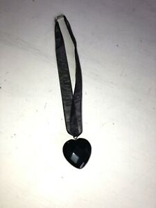 Beautiful Black Heart And Mesh Chocker Necklace sterling silver brand new