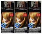 3 X SCHWARZKOPF LIVE SALON PERMANENT HAIR COLOUR 8-0 MEDIUM BLONDE Brand New