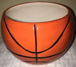 "Basketball Ceramic Planter Vase 4"" Centerpiece"
