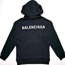 NEW  BALENCIAGA  MENS BLACK HOODIE SWEATSHIRT