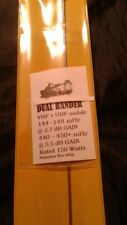VHF UHF Mobile NMO Whip Antenna 5.5 dB Hi GAIN Auto-dual BAND 144  440-450