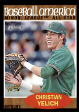 2011 Topps Heritage Minors Black Border SP Christian Yelich #243 41/62 Rookie RC