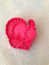 Vintage Tupperware  Thanksgiving TURKEY RED  Plastic Cookie Cutter