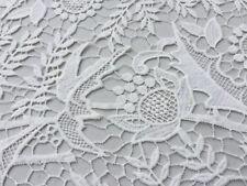Guipure lace, 'Petula', Ivory (per metre) dress fabric, sewing