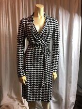 NWT Dvf. Diane Von Furstenberg New Jeanne Two Dress In Slice Black. Size 6