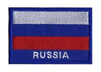 Écusson patche patch drapeau russe RUSSIE 70 x 45 mm pays monde brodé
