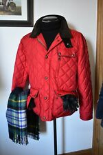 Mens Polo Ralph Lauren Red Quilted Country Style Jacket Size XXL Equestrian