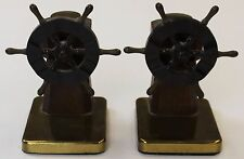 Pair of Ship Wheel Bakelite Bookends