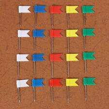 100x 5-Colour Flag Push Pins Office Home School Supplies Cork Board Map Drawing