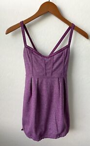 Lululemon Womens Workout Gym Yoga Tank Top in Violet Purple Size 6