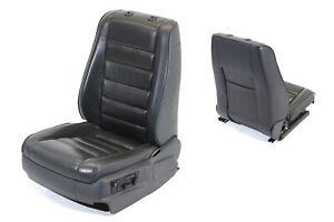 Original VW Touareg 7L Fahrersitz Sitz elektrisch Memory Leder Anthrazit Schwarz