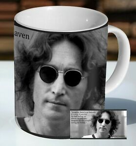 John Lennon Imagine Quote Ceramic Coffee Mug - Cup